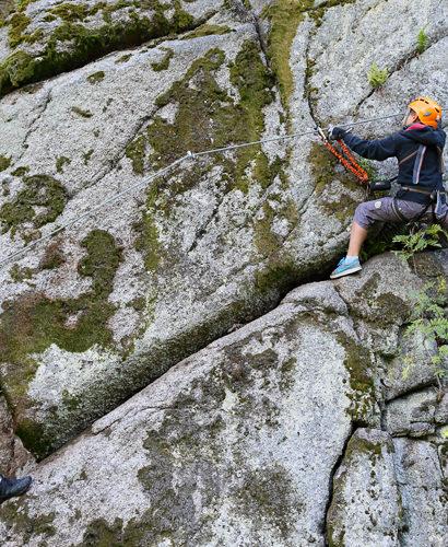 Kurz Via ferrata lezení botanická zahrada Bečov: pohodový rodinný sportovní den na skále