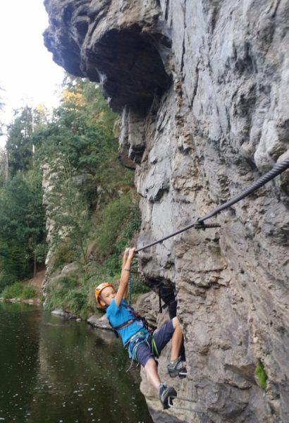 Kurz Via ferrata lezení se stručnou teorií: Bechyně