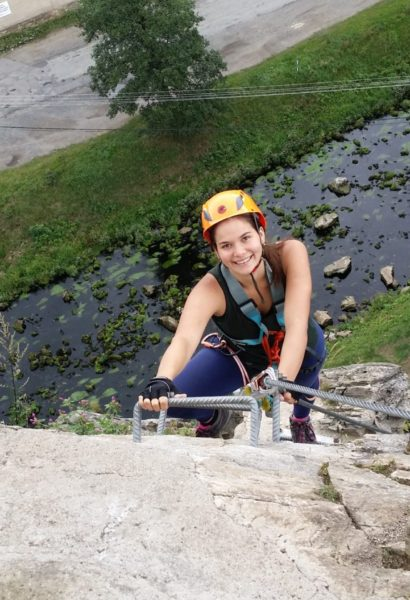 Privátní Via ferrata lezení s teorií Vysočina
