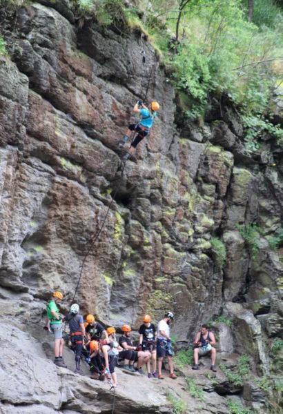 Kurz lezení těžkých ferrat o obtížnosti E a F