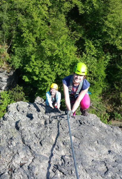 Via ferrata lezení bez teorie Tábor