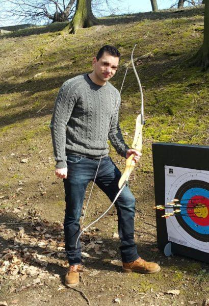 Zážitkový kurz lukostřelby, střílení do terče Praha
