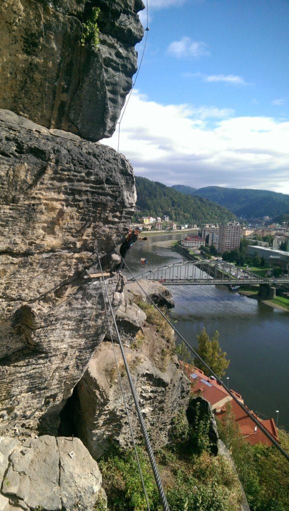 Via ferrata lezení s instruktorem Děčín, Pastýřská stěna