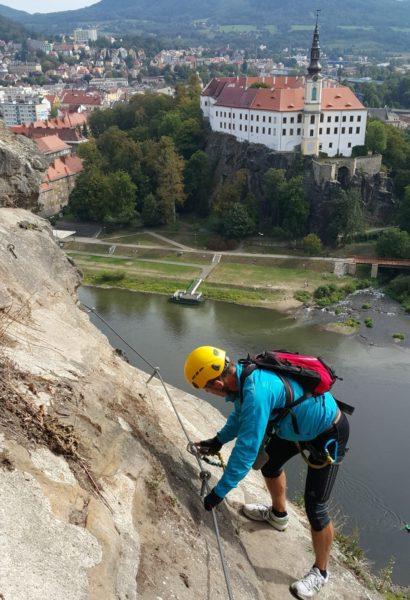 Privátní kurz bezpečného ferrata lezení Děčín