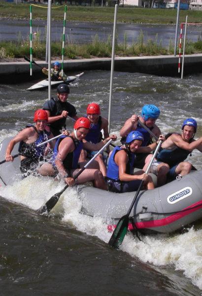 Zážitkový rafting pro skupiny, Praha – Trója
