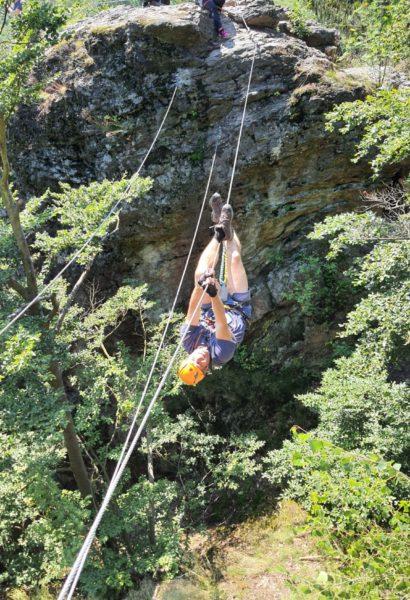 Kurz bezpečného via ferrata lezení Mírkov