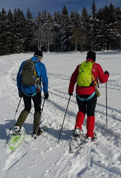 Výprava na sněžnicích k prameni Labe: Krkonoše