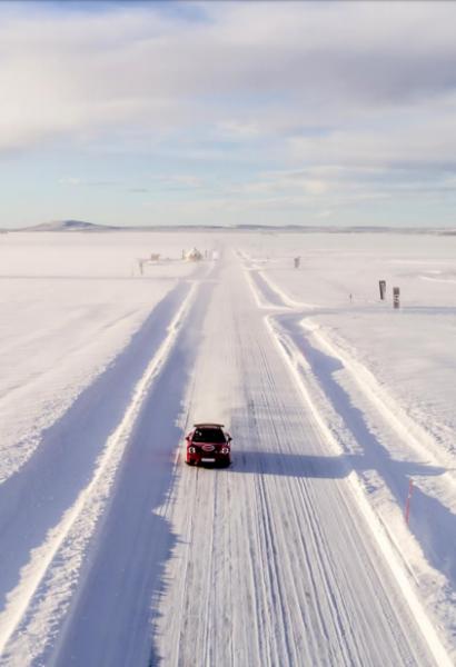 Kurz driftování na sněhu a ledu: Švédsko